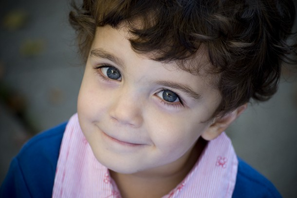 Adorable Little Boy with big blue eyes