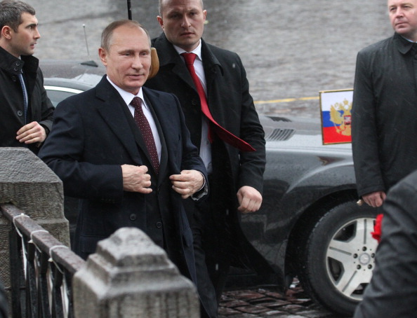 Russian President Vladimir Putin Attends A Wreath Laying Ceremony On People's Unity Day