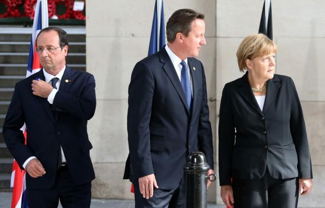 Hollande-Cameron-Merkel