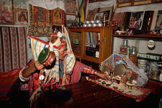 Tibetan Shaman in a Trance