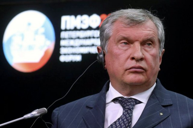 Rosneft Chief Executive Sechin attends energy club summit of PIEF 2015 in St. Petersburg