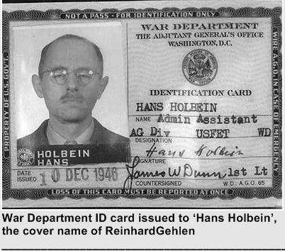 nacista nemacka hans holbein rajinhard gelen