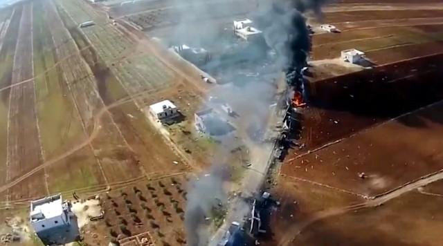 NAJNOVIJA VEST: Ruski bombarderi uništili turska oklopna vozila i oružje u Siriji
