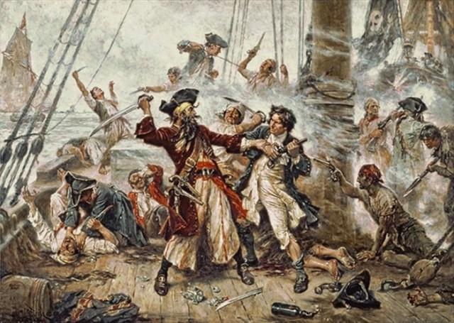 pirati crnobradi bitka brod more
