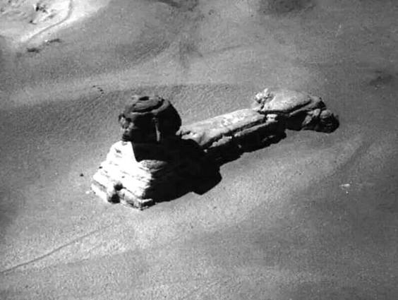 This-is-a-rare-image-of-the-Sphinx-taken-from-a-hot-air-balloon-in-the-early-19th-century