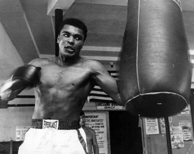 May 17, 1967: Muhammad Ali punches the bag. (Miami News photo)