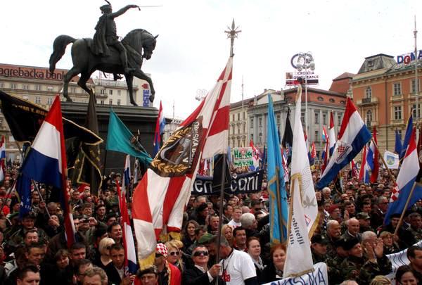 Croatian citizens protest in Zagreb