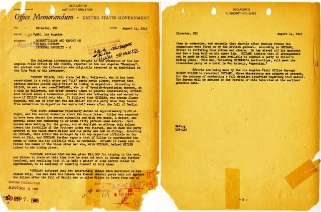 FBI Declassified Files - Hitler in Argentina67