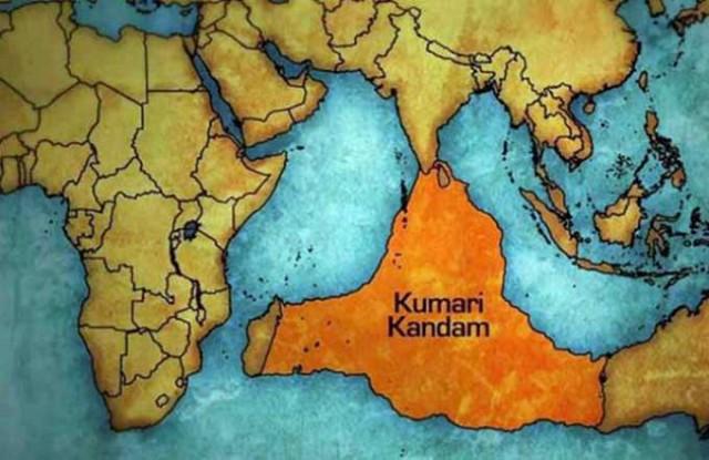Izgubljeni kontinent Kumari Kandam lemurija atlantida