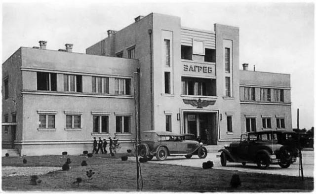 Zagrebacki aerodrom sa cirilickim natpisom 1932