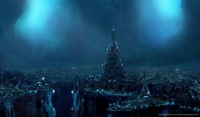 grad- podzemlje- pecina- voda- okean