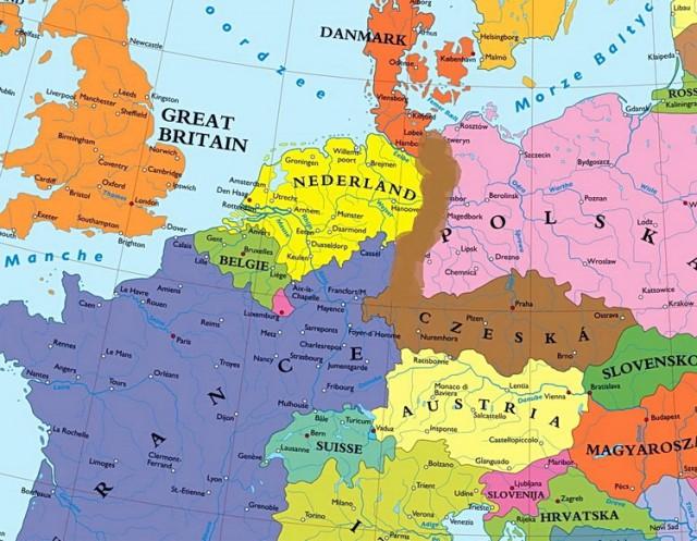 evropska unija mapa