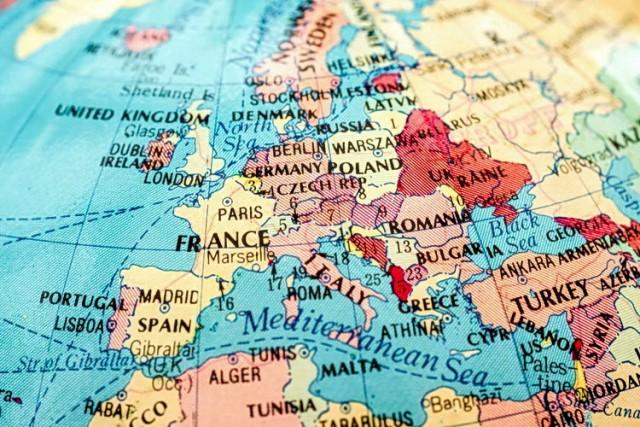evropa mapa