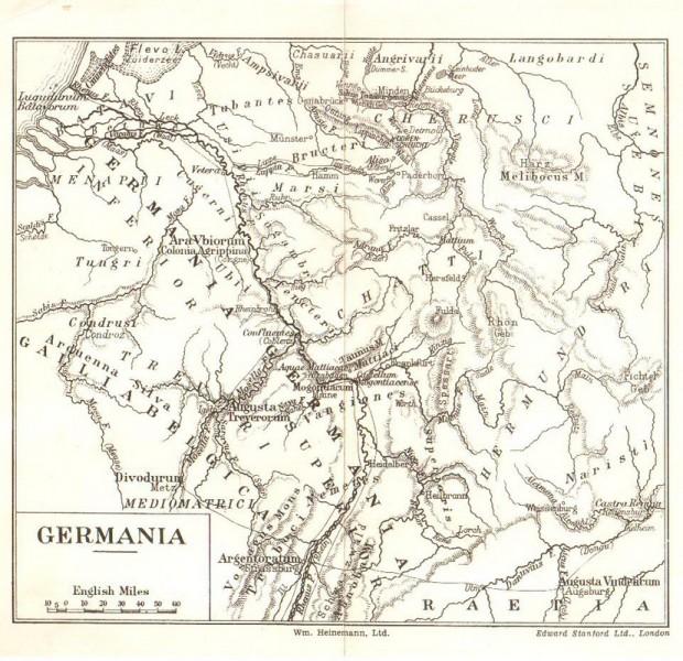 Германија и северна Србија на Рајни