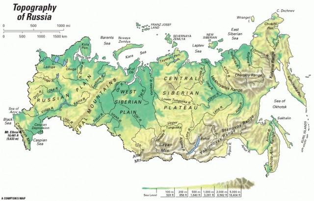 rusija mapa