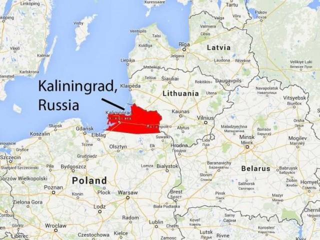 kalinjingrad mapa
