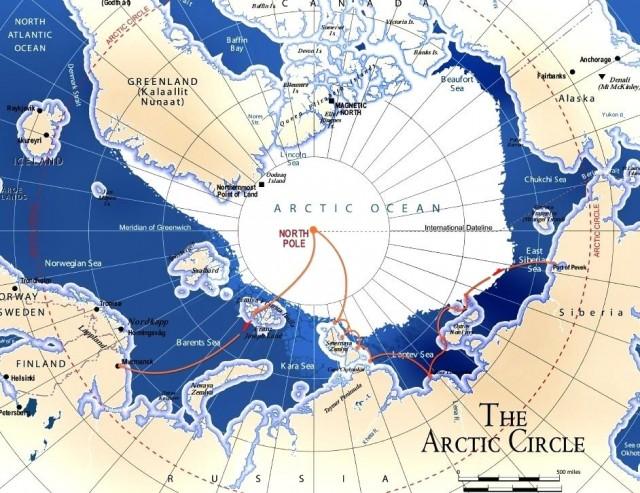 arktik mapa