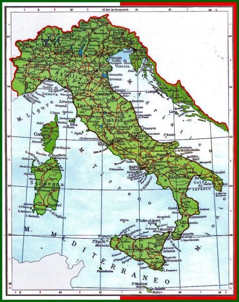 italija mapa istra dalmacija